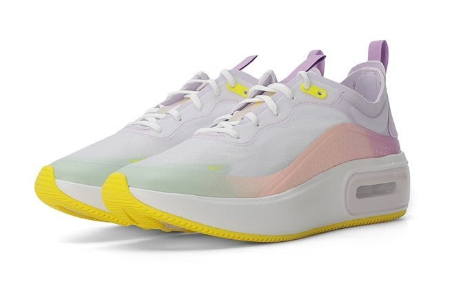 =CodE= NIKE W AIR MAX DIA SE 針織網布氣墊慢跑鞋(白彩虹)CW4316-171 增高厚底 女