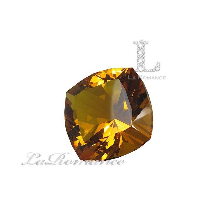 【芮洛蔓 La Romance】璀璨方型水晶鑽 – 琥珀色 / 熱忱 / 喜悅 / 活潑 / 華麗