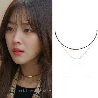 【韓Lin連線代購】韓國 GET ME BLIN- 明星同款短項鍊 SIMPLE CHOCKER_DOUBLE