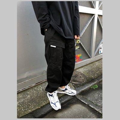∵ PRAY FOR FASHION ∴簡約美式機能街頭前置立體口袋抽繩戰術束腳長褲