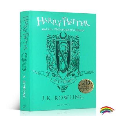 英文原版進口 Harry Potter Philosophers Stone 哈利波特與魔法石平裝 哈利波特1斯萊特林