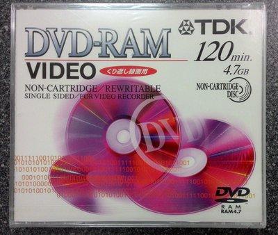 ~P-sha毘社~TDK 2x倍速DVD-RAM【CPRM對應】DVD-RAM120VN 影像錄製DVD片