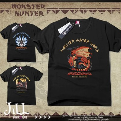 Oo吉兒oO魔物獵人系列龍造型印花短袖T恤 日系動漫二次元電玩周邊 冥燈龍麒麟【J1L5109】