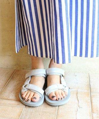 WaShiDa【O-PREMIER】TEVA 美國品牌 夏日 運動 經典 多點式 調整 織帶 水陸 涼鞋 灰 女鞋
