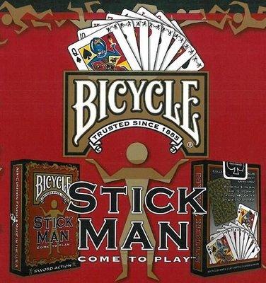 【USPCC撲克館】撲克牌 BICYCLE Stick Man 金