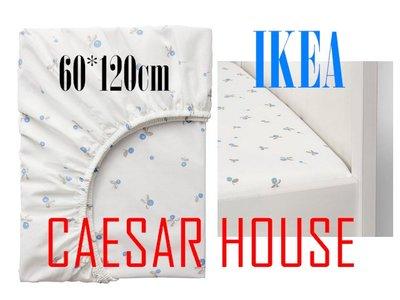 ╭☆凱薩小舖☆╮【IKEA】RÖDHAKE嬰兒床包, 60*120cm-藍莓 棉質 (免運費) 台北市