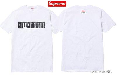 【超搶手】 全新正品2014 稀少限量 Supreme Silent Night Tee 聖誕節平安夜 白色 L XL