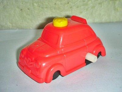 aaL皮商旋.(企業寶寶玩偶娃娃)超少見1996年麥當勞發行超級變向車隊-奶昔大哥紅色車!--距今已有23年值得收藏!