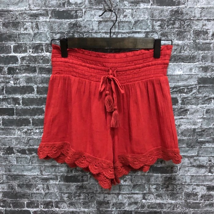 Maple麋鹿小舖 American Eagle * AE 磚紅色短褲裙 * ( 現貨S號 )