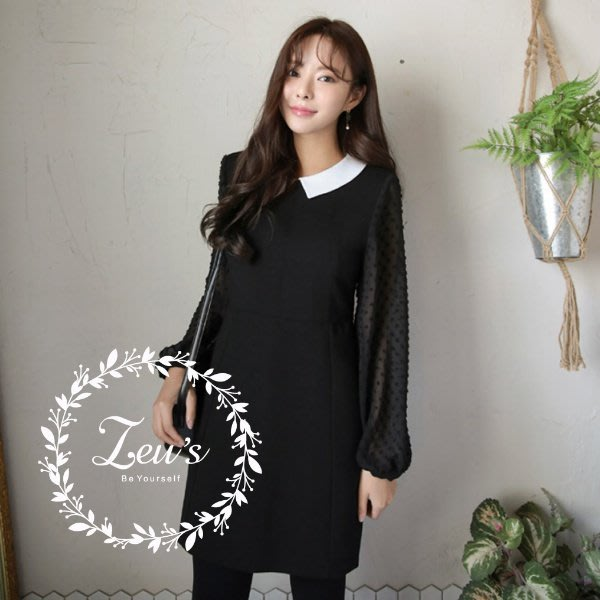 【ZEU'S】韓國早春新款甜美氣質洋裝『 01218702 』【現+預】AA