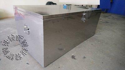 速發~標準型白鐵304縮蓋式N字口工具箱!不鏽鋼防水貨車車斗工具箱防盜大型工地專用鐵箱子廢棄物箱置物箱白鐵盒白鐵箱收納箱