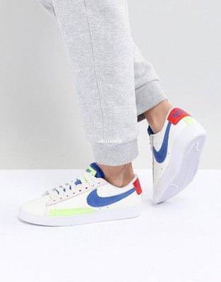 "Nike Wmns Blazer Low Panache 百搭 滑板鞋""白藍燈芯絨淺粉""Aq4140-101 女鞋"