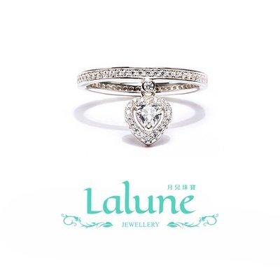 925純銀 Picture perfect 完美構想 銀白愛心吊墜永恒戒 晶鑽CZ水鑽 小資OL 造型戒指