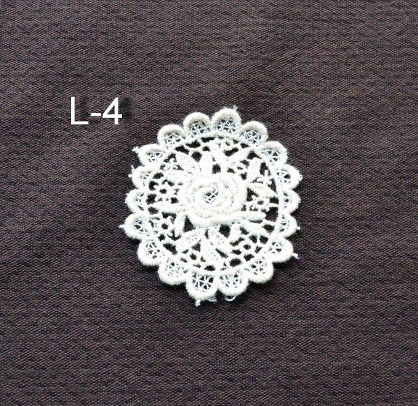 *巧巧布拼布屋*日本進口~蕾絲花片-有3款L4-L6 / 拼布材料 / 自然風拼布包裝飾配件