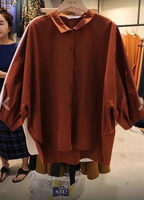~~Grand Market~~100%(正)韓 莫蘭迪磚咖個性簡約襯衫 女人我最大 愛的破降 孫藝珍