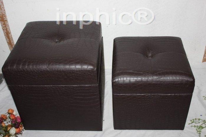 INPHIC-仿舊家居 歐式皮革坐箱 古董大箱子2件套