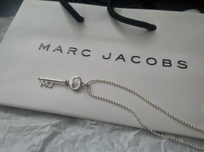 ☆青兒小公主☆MARC JACOBS 銀色心鎖鑰匙項鍊