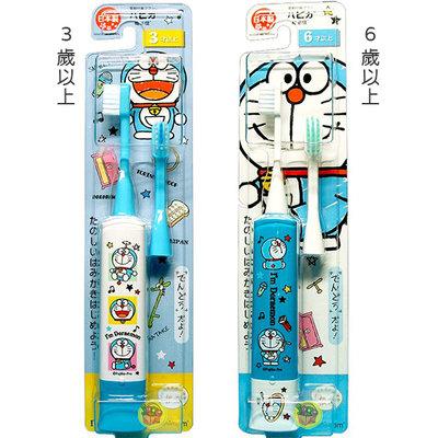 【JPGO】日本製 HAPICA 電動牙刷~每分鐘7000回微震動 哆啦a夢~3歲以上036 6歲以上043