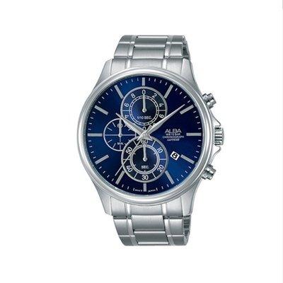 可議價「1958鐘錶城」ALBA雅柏 PRODUCT 男 三眼計時 石英腕錶(AM3467X1) 43mm