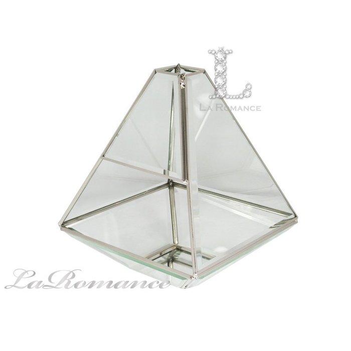 【芮洛蔓 La Romance】 四角錐玻璃花器 / 花房 / 盆栽 / 庭院 / 陽台