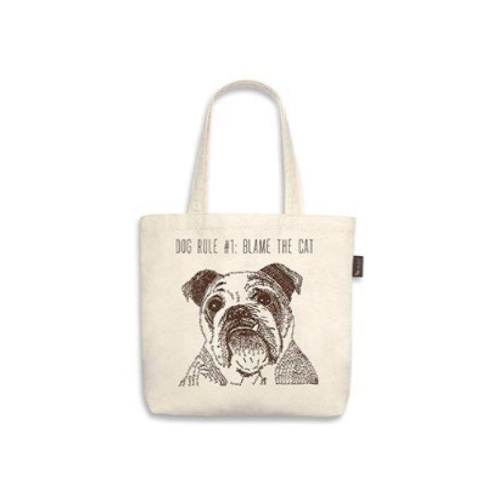 ☘小宅私物☘ 美國 P.L.A.Y. 環保購物袋 狗狗帆布包 英國鬥牛犬  單肩帆布袋 寵物提袋 現貨附發票