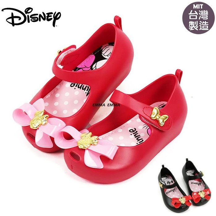 童鞋/Disney迪士尼金色米妮 Q軟.公主風娃娃鞋.公主鞋(119374)黑.紅14-19號