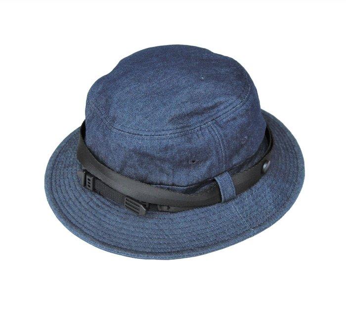 PUNX 19AW DENIM SPLICE HAT 牛仔工裝拼接長條漁夫帽