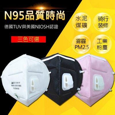 N95級 防霧霾  男女PM2.5 煤礦裝修 呼吸閥透氣口罩  盒裝(20只)