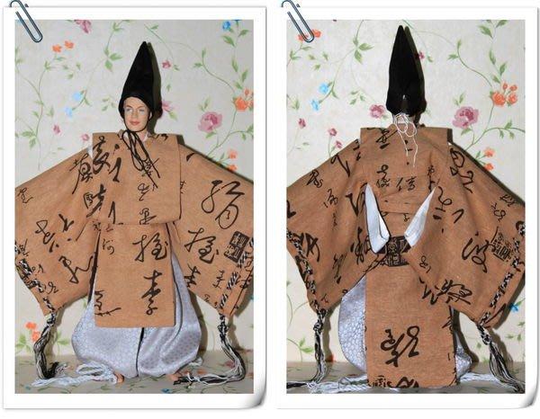 愛卡的玩具屋 男芭比 肯 可穿 -純手工制作肯的土黃中國字和服之狩衣