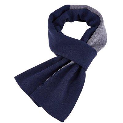 圍巾 針織披肩-羊毛簡約拼色提花男配件3色73wi75[獨家進口][米蘭精品]