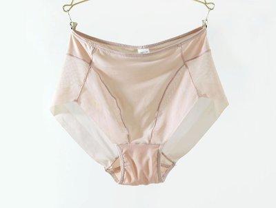 P1纯色透視超薄網紗内褲高彈性舒適無痕包臀三角褲