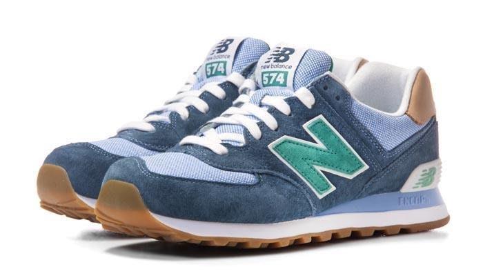 運動GO~ New Balance ML574PIA 灰藍 麂皮 經典款 復古鞋 休閒 慢跑 男款 大尺寸 US8~11
