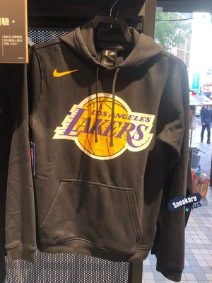 ➕sneakersplus➕ NIKE NBA LAL PO CLUB LOGO 湖人 刷毛 男 AV3542-010