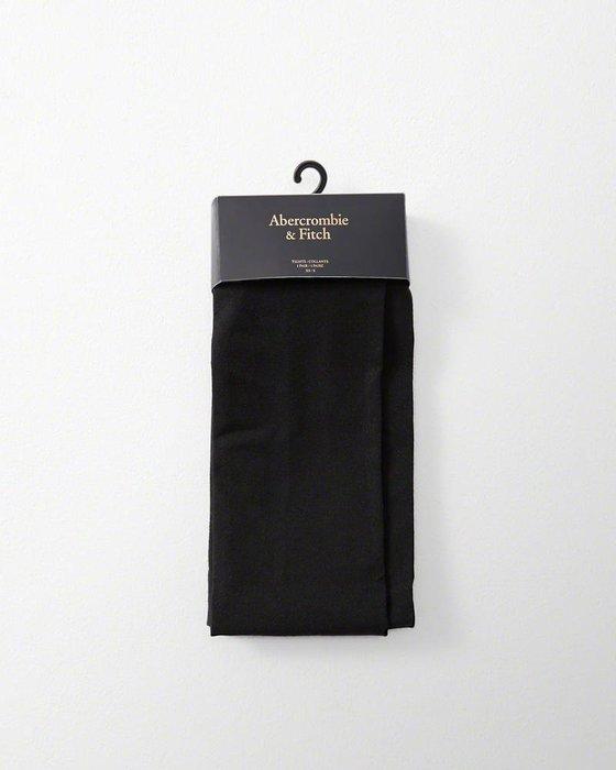 Maple麋鹿小舖 Abercrombie&Fitch * AF  女生素面黑色長絲襪 * ( 現貨 )