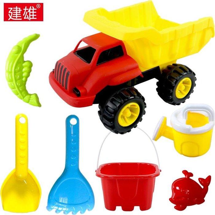 沙灘車套裝加厚戲水兒童玩具沙灘套裝沙漏鏟子寶寶玩沙工具