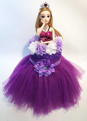 娃娃屋樂園~芭比蓬蓬紗裙尿布蛋糕 - 典雅紫 每組1680元/生日蛋糕/彌月禮滿月禮週歲禮