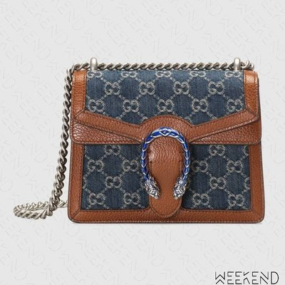 【WEEKEND】 GUCCI Mini Dionysus GG Supreme 酒神包 迷你肩背包 藍色 421970