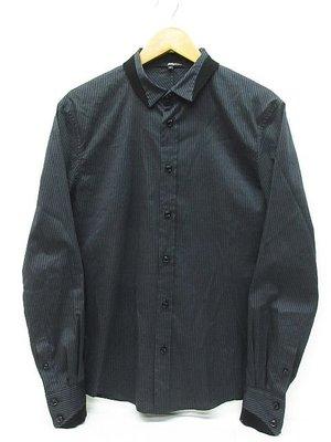 3.1 phillip lim 條紋襯衫 長袖 海軍藍x黑色