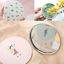 創意蒐藏家【J14031401】韓國 甜美可愛小鏡子 手繪創意鏡 化妝鏡 隨身鏡