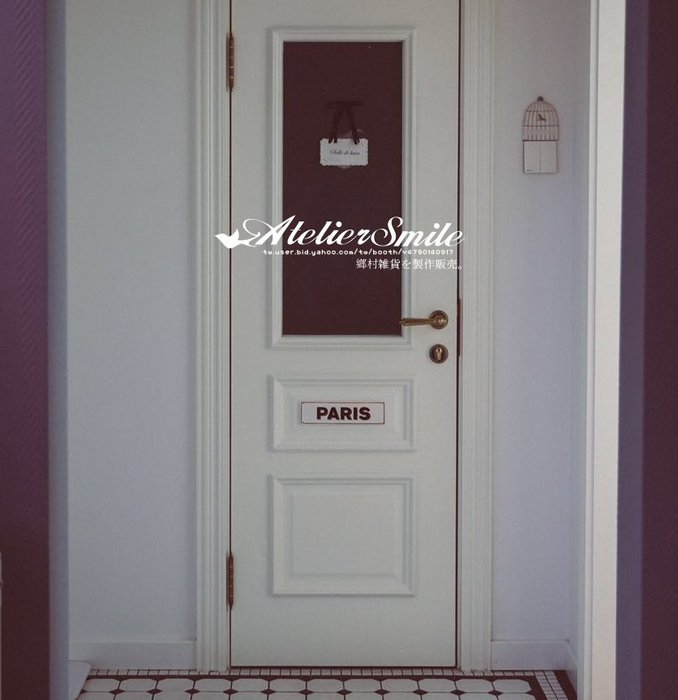 [ Atelier Smile ] 鄉村雜貨 北歐風 復古鍍金 裝飾陶瓷字牌 門牌 牆壁裝飾 (現+預)