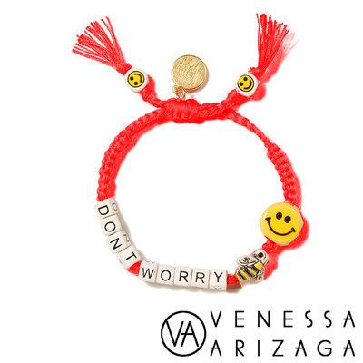 Venessa Arizaga DON'T WORRY BEE HAPPY 笑臉手鍊 螢光粉紅手鍊