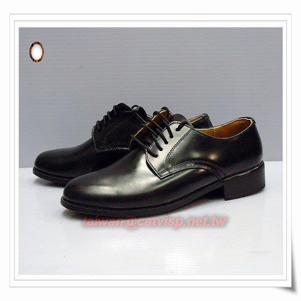 《甲補庫》__軍威全真皮木跟低筒皮鞋_憲兵小皮鞋/警察制服皮鞋