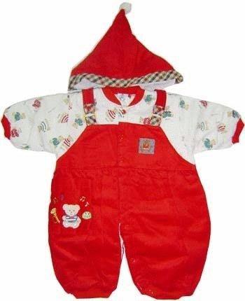 可愛寶貝---◎◎全新聖誕帽+小熊印花條絨鋪棉兩用連身衣---特厚◎◎☆☆人氣商品☆☆