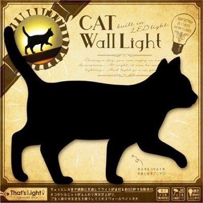 【卡漫迷】 貓 LED 小夜燈 站立 ㊣版 廁所 房間 玄關 貓咪 喵 小燈 省電 造型 壁燈 Cat 自動熄燈 日本製