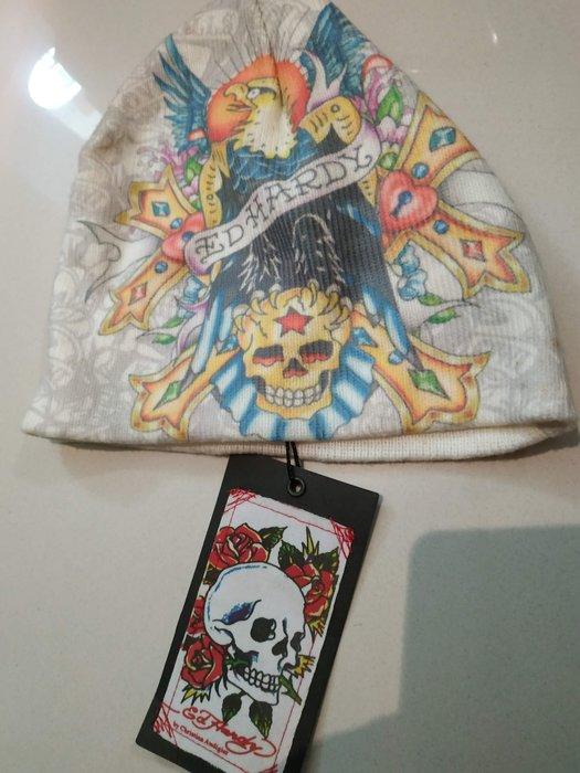 [全新真品出清] Ed Hardy 美國 紋身 骷髏 老鷹 吊牌 微風廣場 帽子 針織帽 玫瑰花 老虎 tattoo 型