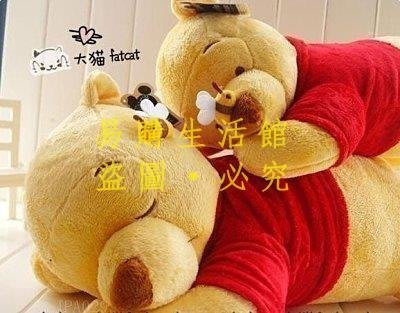 [王哥廠家直销]迪士尼 睡姿維尼熊與蜜蜂趴趴熊抱枕JPA029 小號 大號小熊維尼毛絨公仔玩具 午睡枕靠墊 大號LeGou