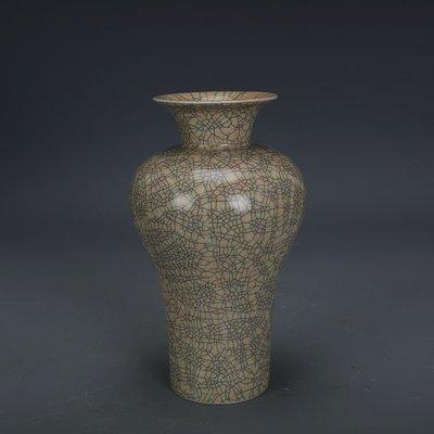 ㊣姥姥的寶藏㊣ 宋代哥窯金絲鐵線支釘大口梅瓶  出土文物古瓷器古玩古董收藏擺件