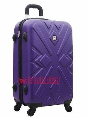 【葳爾登】Long King硬殼旅行箱25吋防水防壓登機箱,ABS防刮耐撞擊行李箱25吋8236紫色
