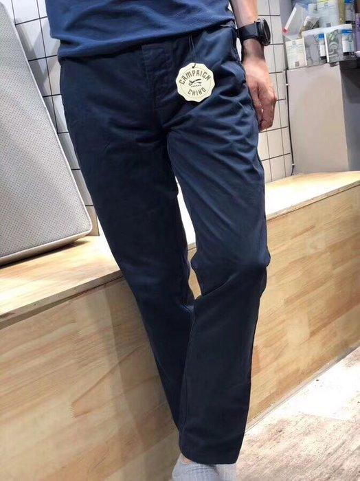 大出清 荷蘭潮牌 DENHAM 18年新款 絲光綿全棉 水洗休閒褲 免燙 藏青色 尺寸36