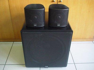 德國CANTON SUBWOOFER Plus C 重低音喇叭與CANTON TWIN 700衛星喇叭一對,品相超優